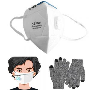Atemschutzmaske N95 mit Handschuhe, FFP2 mit Luftfilter