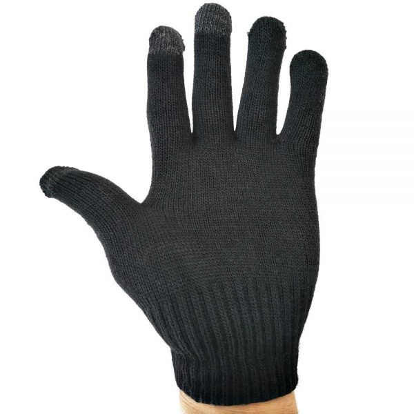 Handschuhe mit Touch Funktion Schwarz